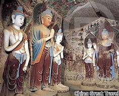 Dunhang Mogao Caves, China. Started in 366 CE.