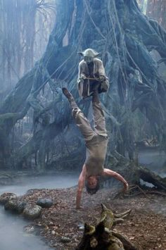 Star Wars-Yoda y Luke Skywalker Theme Star Wars, Star Wars Art, Star Wars Characters, Star Wars Episodes, Sith, Stargate, Star Trek, Dark Vader, Tableau Star Wars
