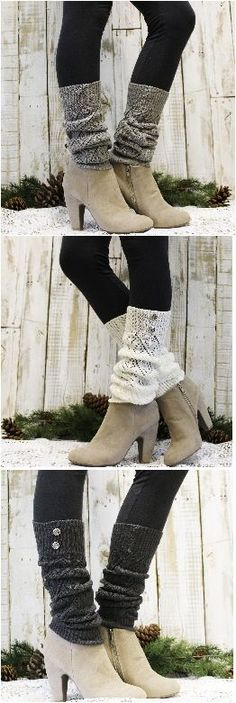 Leg warmers for your Fall and Winter outfits! by Catherine Cole Studio                                                                                                                                                                                 More