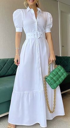 Fashion Dresses, Shirt Dress, Casual, Shirts, Style, White Rave Outfits, White People, Stylish Dresses, Bride Groom Dress