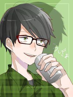 埋め込み Kuroko, Anime Guys, Glasses, Green, Youtube, Draw, Drawings Of Couples, Eyewear, Anime Boys