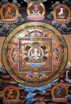 Chenrezig Mandala Thangka  #Tibetan # Thangka