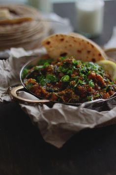 Burnt Aubergine and Spinach Curry 3