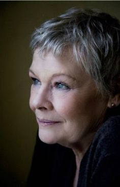 Beauty is not about youth.  Judi Dench, eternally, internally beautiful.