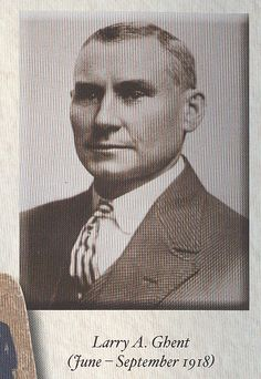 11th Chief of Police: Larry A. Ghent (June- September 1918)
