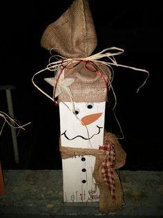 Wooden snowman craft