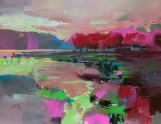 Contemporary Scottish original acrylic abstract landscape painting of Loch Fyne from the Cowal Peninsula by Scott Naismith, Scottish landscape painter Landscape Artwork, Abstract Landscape Painting, Canvas Artwork, Oil Painting On Canvas, Paint Paint, Scott Naismith, Fine Art, Giclee Print, Art Print