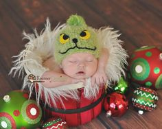 RTS Mr Grinch  newborn/baby photography prop by ModisteBee on Etsy, $35.00