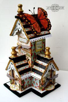 "Authentique Paper: ""Harmony"" Altered Birdhouse"