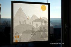 DIY Anleitung Fensterbild Winter