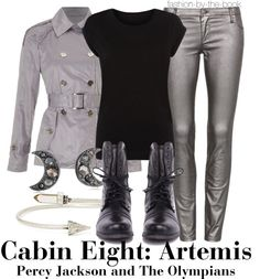 Outfit inspired by Cabin Eight: Artemis at Camp Half-Blood in Rick Riordan's Percy Jackson & the Olympians series