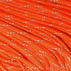 Orange Reflective Paracord 550 lb 25'; cordage is useful for all sorts of survival tasks. this one has a reflective strand that glows when shined with flashlight, can be used to mark items, or paths at night.