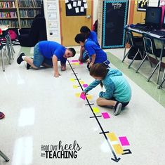 Found an idea for my classroom floor tape from Dollar Tree! Locating decimals and fractions on a number line! They loved it! Sixth Grade Math, Fourth Grade Math, Grade 3, Decimal, Math Teacher, Teaching Math, Math Resources, Math Activities, Addition Activities