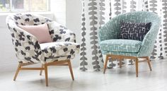A creative collision of pattern and texture – Design News & Style – James Dunlop Textiles Interior And Exterior, Interior Design, Fabric Houses, Colorful Chairs, Curtain Fabric, Curtains, Texture Design, Upholstery, House Design