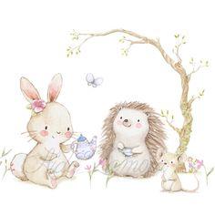 Te confieso que me encantan las ilustraciones con escenas de picnic o tomando el té, de verdad que no me puedo resistir a añadir nuevos…