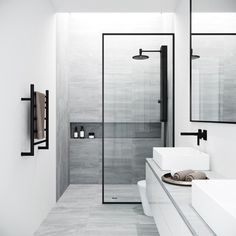 Bring modern luxury and a spacious, spa-like feel to your contemporary bathroom with the VIGO Fixed Glass Shower Screen. Modern bathroom Ideas and Design - Bathroom Inspiration - Bathroom Remodel Bathtub Doors, Frameless Shower Doors, Modern Shower Doors, Bathtub Glass Panel, Framed Shower Door, Modern Bathroom Design, Bathroom Interior Design, Minimal Bathroom, Minimalist Bathroom Design