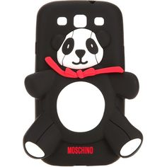 Moschino Panda Samsung Galaxy S3 Cover ($30) ❤ liked on Polyvore featuring accessories, tech accessories, phones, black and moschino