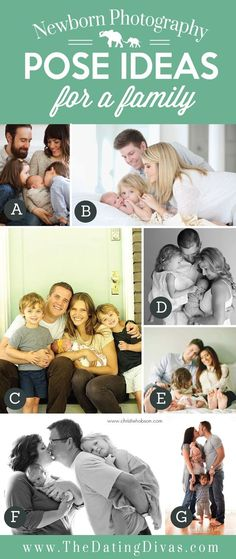 Family photo posing ideas with a newborn by wilma