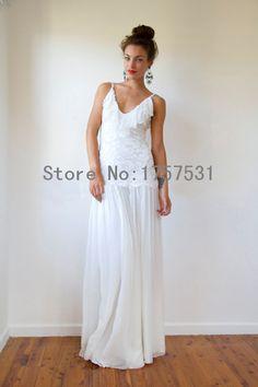 New Fashion Lace Sheath Beach Wedding Dress 2015 Hand Made Backless Elegant Youg Gril Bridal Dress Summer Dress
