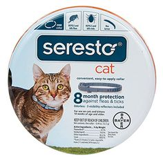 Seresto 8 Month Flea and Tick Collar for Cats -- Check out this great product. (This is an affiliate link and I receive a commission for the sales)