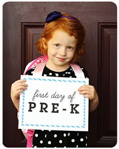 """I'm going to have all my little firsties do this with """"First Day of First Grade"""" on the first day of school. :) What a fun classroom display, picture to send home, and picture to compare how they look at the end of the year!"""