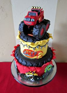 "blaze and the monster machines party | Delectable Cakes: ""Blaze and the Monster Machine's"" birthday cake"