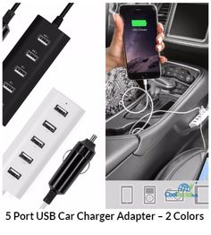 5 Port USB Car Charger Adapter ??� 2 Colors for more details visit http://coolsocialads.com/5-port-usb-car-charger-adapter-----2-colors-60507