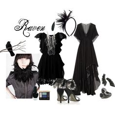 """Raven Halloween Costume"" by shartta on Polyvore"