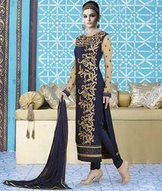 Amazing Oak Brown and Beige Suit Buy Designer Sarees Online, Designer Salwar Suits, Designer Wear, Buy Suits, Beige Suits, Lehenga Style Saree, Desi Clothes, Party Wear Sarees, Straight Cut