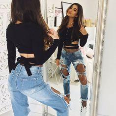 120 Ideas De Jeans Rotos Jeans Rotos Ropa Moda