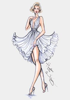 Hayden Williams Fashion Illustrations | Happy Birthday Marilyn! By Hayden Williams