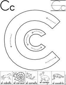 letra c fichas del abecedario y el alfabeto para descargar gratis para imprimir de niños