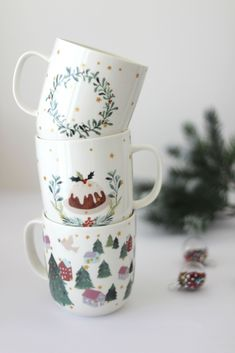 My Christmas Mug Collection - A GIRL & GREY | Mugs | Christmas Mugs | Cosy | Blogmas