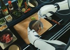 Futuristic Kitchen, Moley Robotics, Robotic Kitchen
