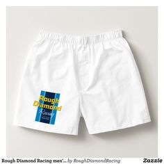 Rough Diamond Racing men's boxer shorts. - Dashing Cotton Underwear And Sleepwear By Talented Fashion And Graphic Designers - #underwear #boxershorts #boxers #mensfashion #apparel #shopping #bargain #sale #outfit #stylish #cool #graphicdesign #trendy #fashion #design #fashiondesign #designer #fashiondesigner #style
