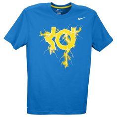 Nike KD Lightning T-Shirt - Men's - Basketball - Clothing - Light Photo Blue/Tour Yellow