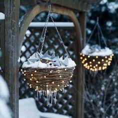 Nest winter decor wi