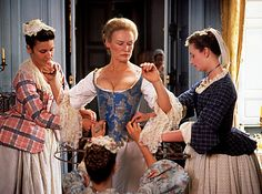 Glenn Close, 'Dangerous Liaisons' (1988). The time period is 1760 France.