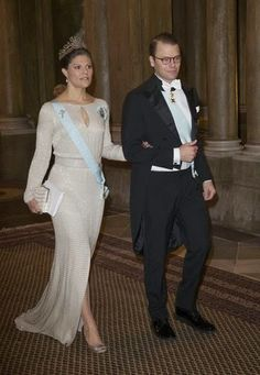 18 November 2014 - Crown Princess Victoria and Prince Daniela attend the official dinner at the Royal Palace in Stockholm