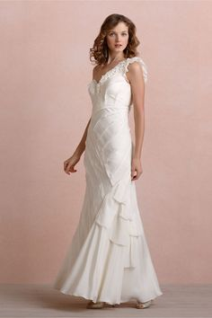 Ribboned Silk Gown from BHLDN