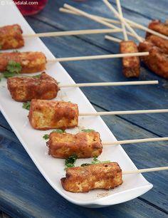 Paneer Amritsari Tikka ( Kebabs and Tikkis Recipe) recipe | by Tarla Dalal | Tarladalal.com | #32715