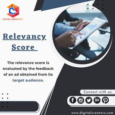 Feedback is an important factor in all fields. When the feedback of an ad is calculated it is known as the relevancy score. It is essential as it determines the cost per click of an ad. Visit our official website for more information related to Digital Marketing. #relevancy #score #digitalmarketing #marketing #digitalcreaters #socialmediamarketing #SEO #onlinemarketing #target #marketingtips #audience #webdesign #contentcreation #graphicdesign #digital #emailmarketing #feedback #ads Email Marketing, Social Media Marketing, Best Digital Marketing Company, Target Audience, Video Editing, Web Development, Fields, Seo, Web Design
