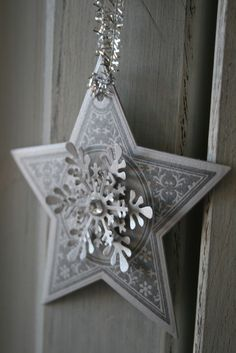 ✯ Wish Upon the Stars ✯ silver star and snowflake