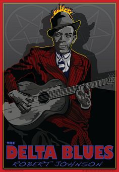 Robert Johnson Delta Blues Digital Art