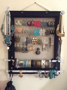 Jewelry organizer display by MadebyFLORENCIA on Etsy, $35.00