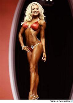 Bodybuilding.com - You 'Mirin?  Dianna Dahlgren at the 2012 Bikini Olympia competition.