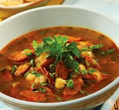 Portuguese Sausage Posole Soup This take on Posole is faster to make but has all the rich flavors that will make it a favorite recipe.  #cookinghawaiianstyle #hawaiianfood #food