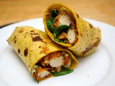 Buffalo Chicken Wrap from Serious Eats. http://punchfork.com/recipe/Buffalo-Chicken-Wrap-Serious-Eats