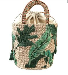 Hasır Çanta Modelleri - Avoid Tutorial and Ideas Diy Bags Purses, Purses And Handbags, Sacs Design, Embroidered Bag, Crochet Handbags, Crochet Bags, Basket Bag, Purse Patterns, Summer Bags
