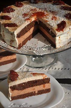 Tort de ciocolata si crema de gutui Romanian Desserts, Romanian Food, Tiramisu, Sweet Treats, Deserts, Good Food, Cake, Ethnic Recipes, Sweets
